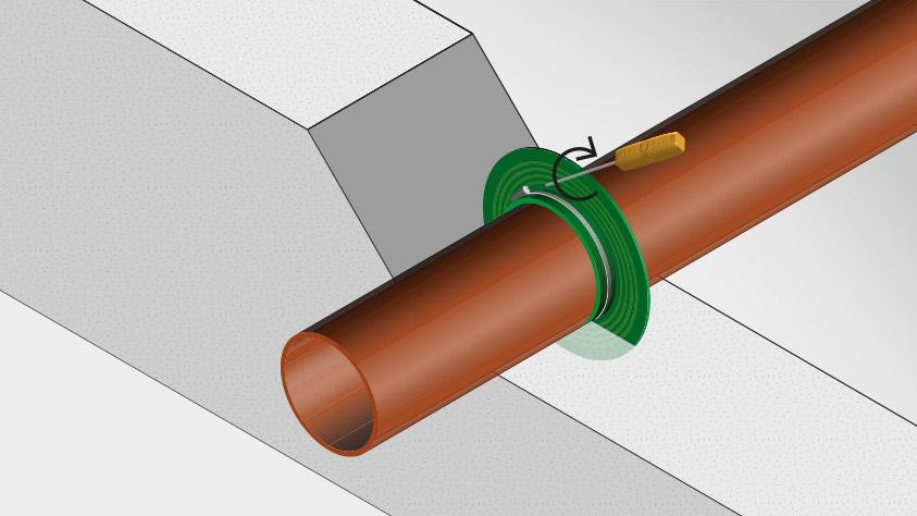 Rørtetningsmansjetter for vanntetting og gjennomføring
